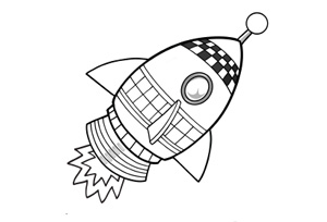 Rocket coloring #3, Download drawings