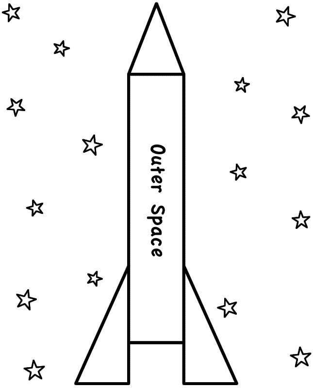 Rocket coloring #7, Download drawings