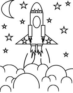 Rocket coloring #5, Download drawings