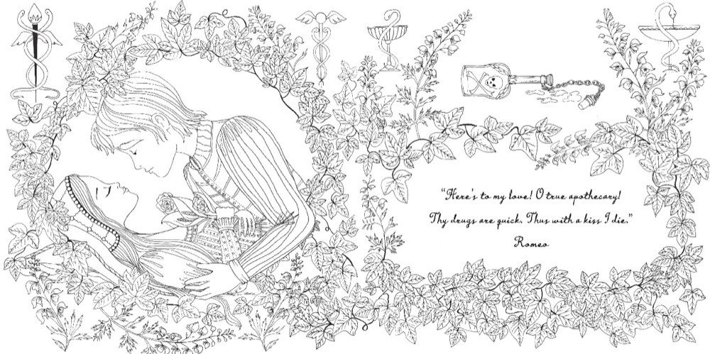 времен рисунок ромео и джульетта раскраска попробовали