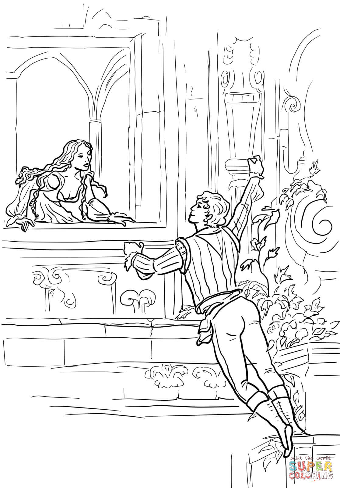 Romeo And Juliet coloring #19, Download drawings