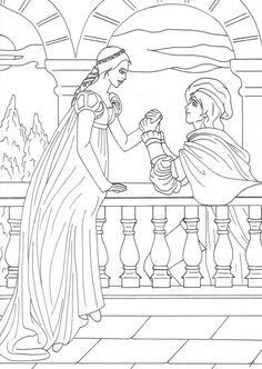 Romeo And Juliet coloring #2, Download drawings