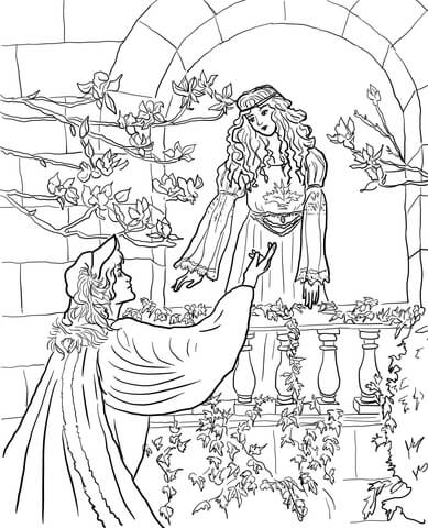 Romeo And Juliet coloring #3, Download drawings