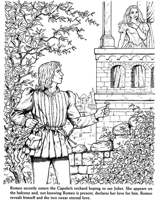 Romeo And Juliet coloring #17, Download drawings