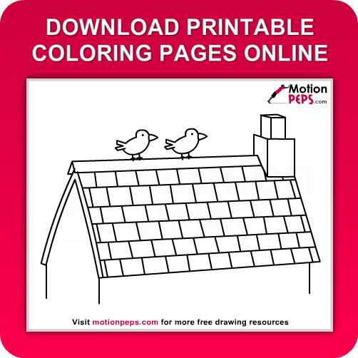 Roof coloring #17, Download drawings