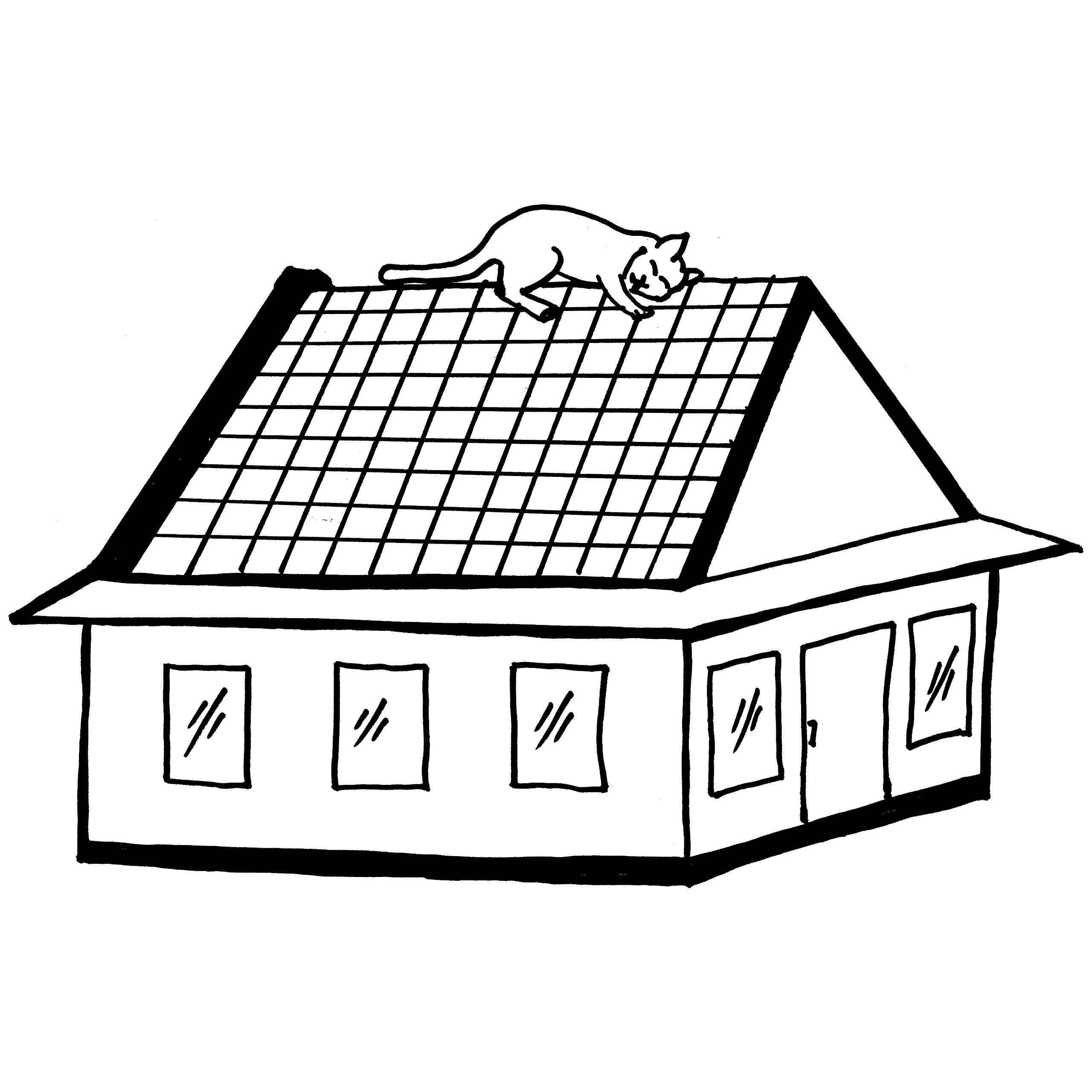 Roof coloring #11, Download drawings