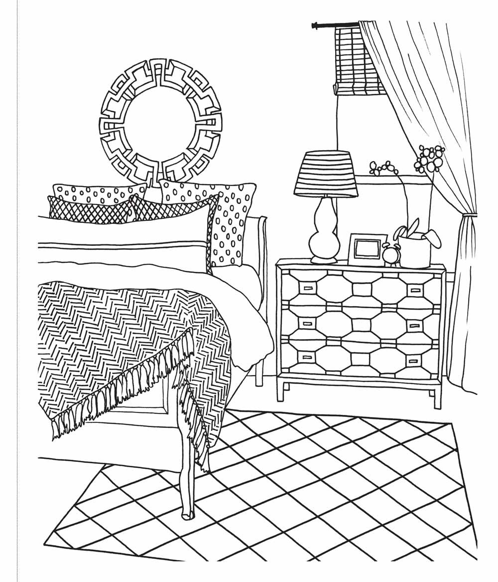 Room coloring, Download Room coloring for free 2019