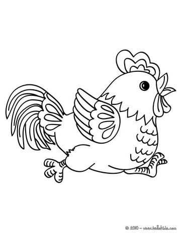 Rooster coloring #14, Download drawings
