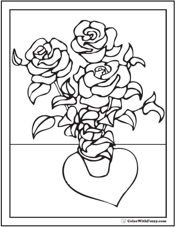 Rose Bush coloring #18, Download drawings