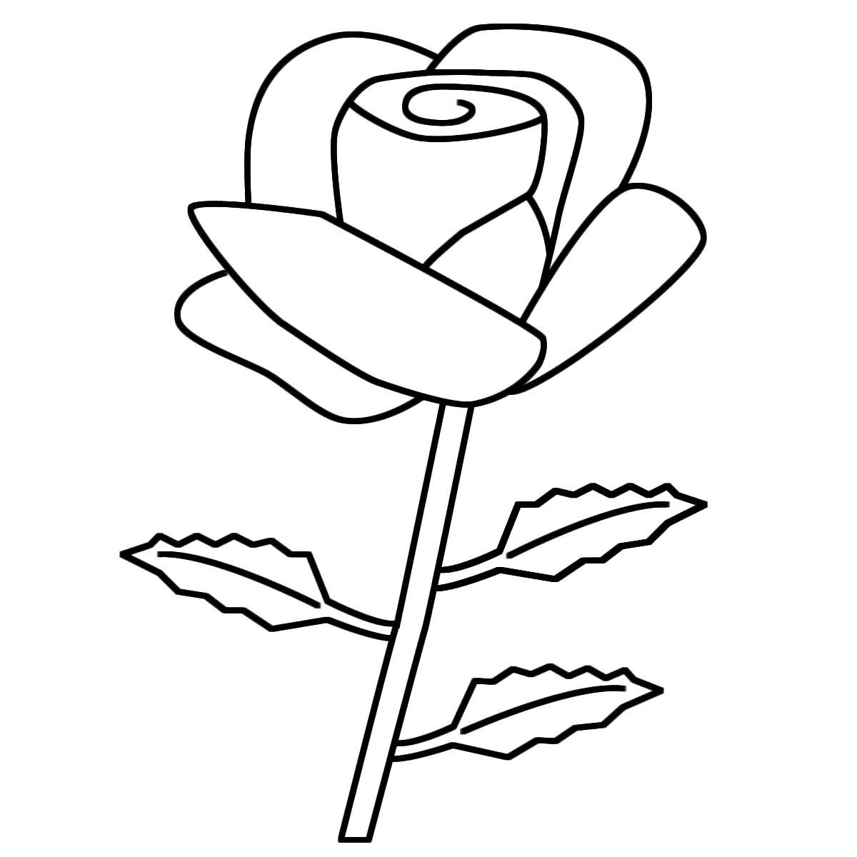 Rose coloring #10, Download drawings