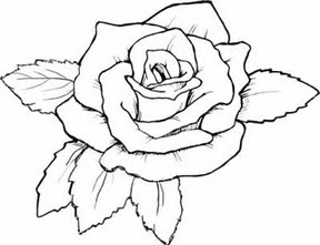 Rose coloring #11, Download drawings