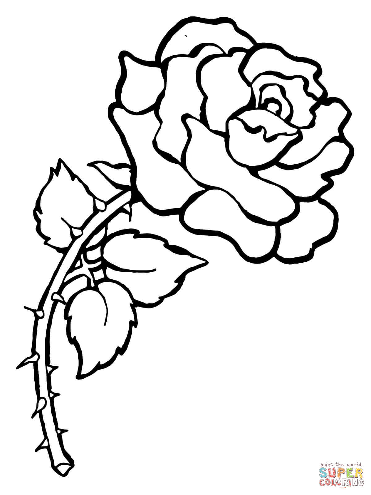Rose coloring #9, Download drawings