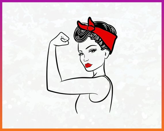 rosie riveter svg #779, Download drawings