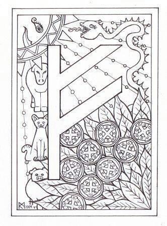 Runes coloring #9, Download drawings