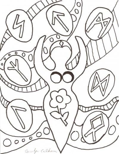 Runes coloring #5, Download drawings