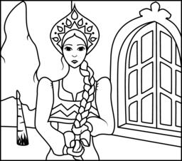 Russian coloring #1, Download drawings