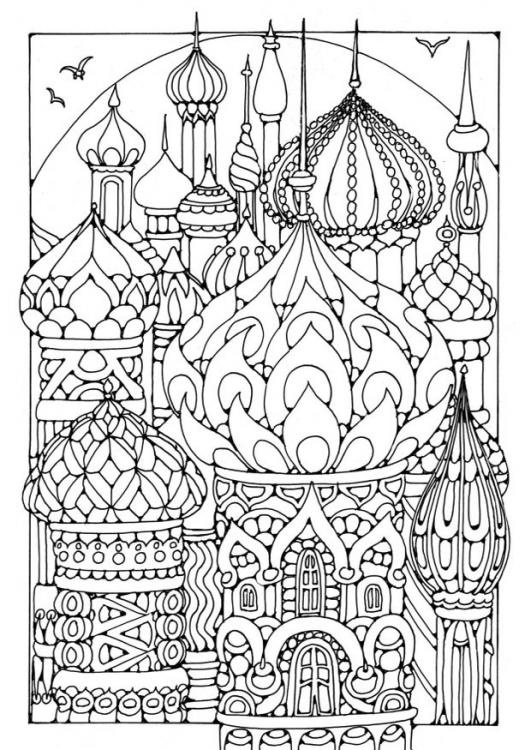 Russia coloring #5, Download drawings