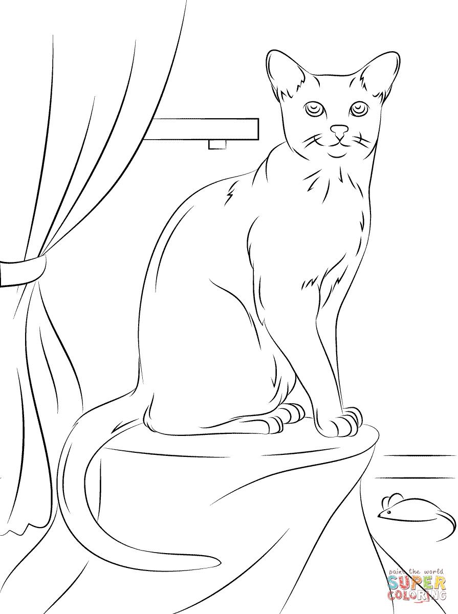 Tuxedo Cat coloring #14, Download drawings
