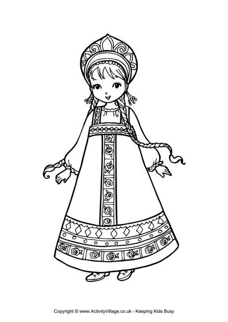Russian coloring #20, Download drawings