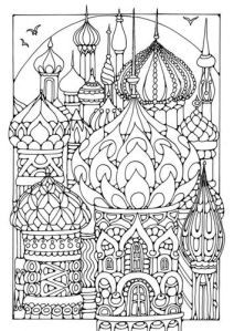 Russian coloring #9, Download drawings