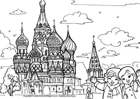 Russian coloring #11, Download drawings