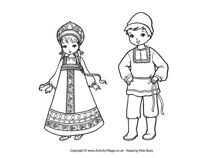 Russian coloring #17, Download drawings