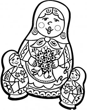 Russian coloring #8, Download drawings