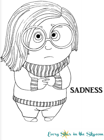 Sadness coloring #7, Download drawings