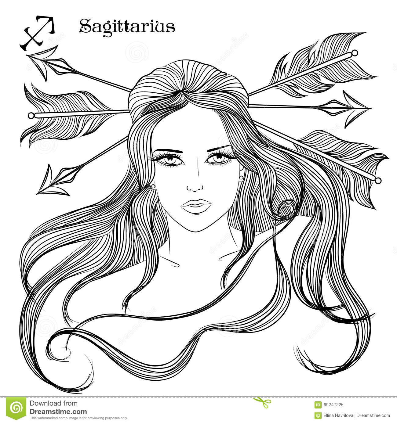 Sagittarius (Astrology) coloring #7, Download drawings