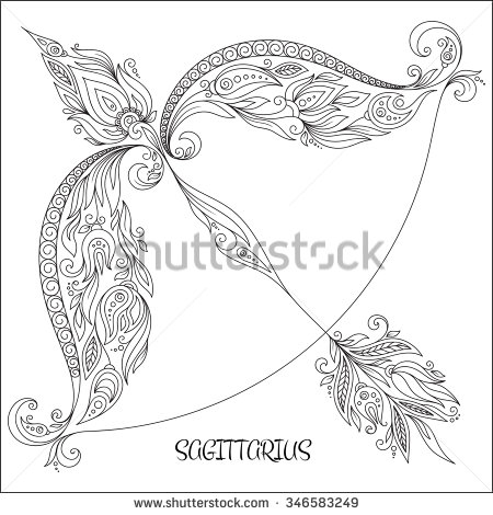 Sagittarius (Astrology) coloring #10, Download drawings
