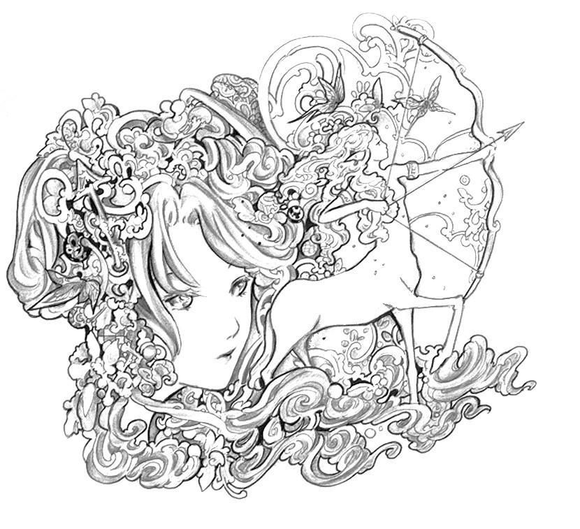 Sagittarius (Astrology) coloring #5, Download drawings