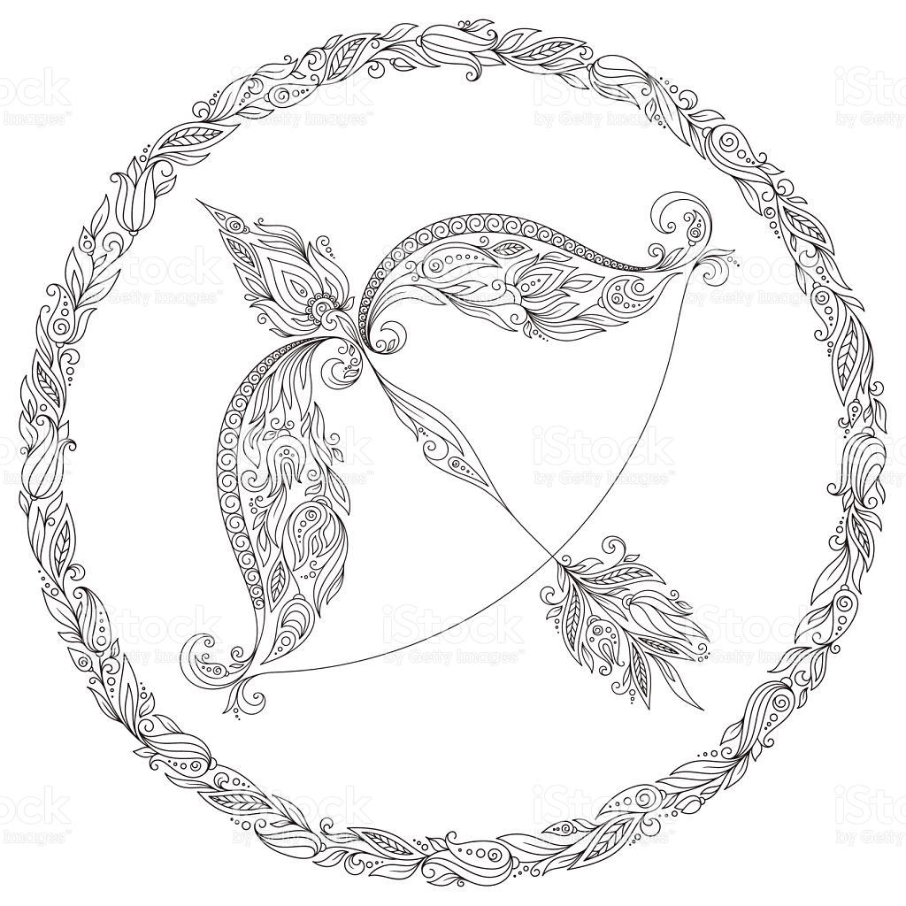 Sagittarius (Astrology) coloring #6, Download drawings