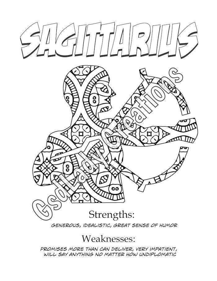 Sagittarius (Astrology) coloring #11, Download drawings