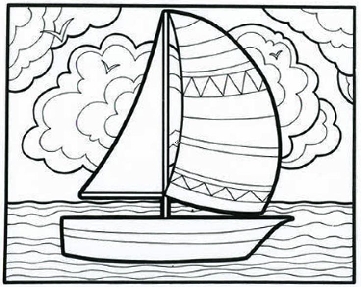 Sailboat coloring #5, Download drawings