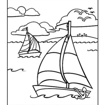 Sailboat coloring #6, Download drawings