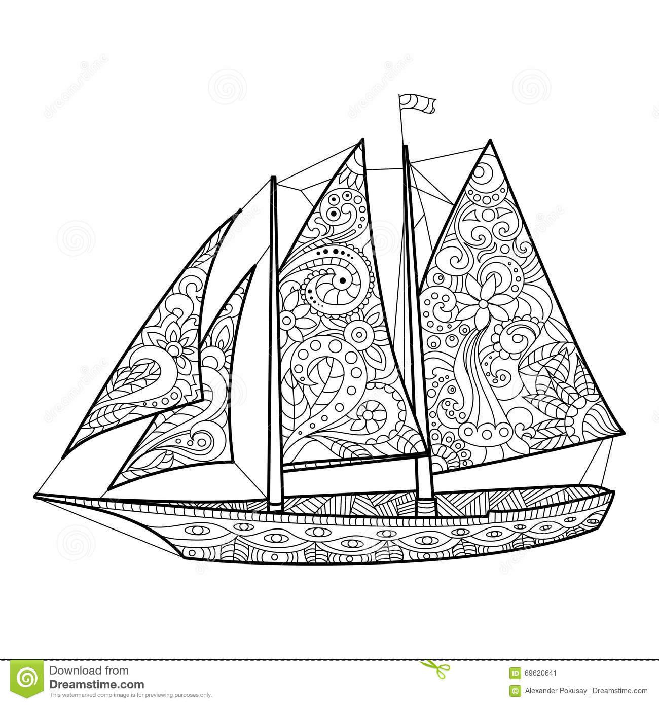 Sailboat coloring #7, Download drawings