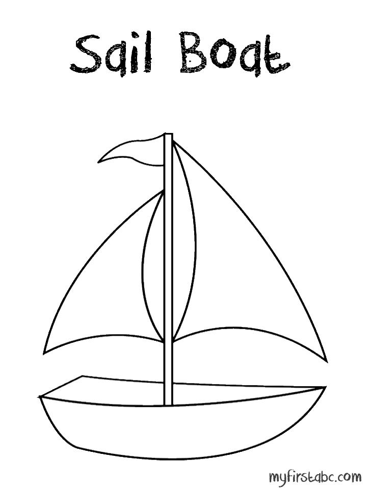 Sailboat coloring #14, Download drawings