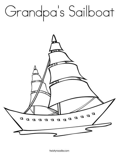 Sailboat coloring #16, Download drawings
