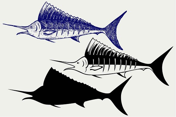 Sailfish svg #11, Download drawings