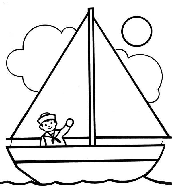 Sailing coloring #10, Download drawings