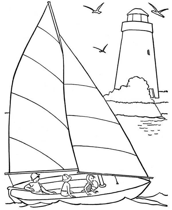 Sailing coloring #7, Download drawings