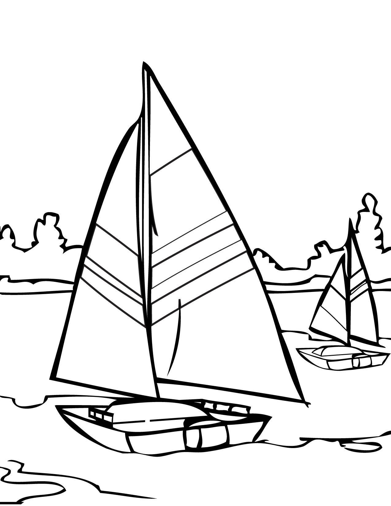 Sailing coloring #4, Download drawings