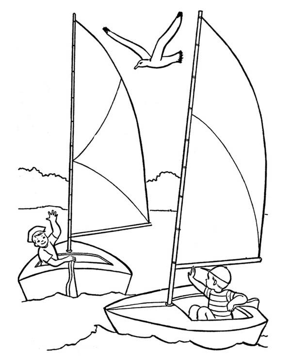 Sailing coloring #13, Download drawings