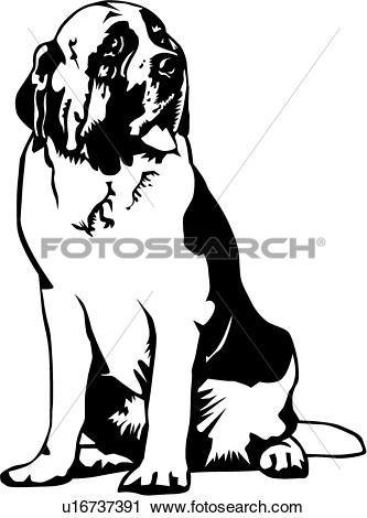 Saint Bernard clipart #5, Download drawings