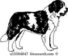 St. Bernard clipart #13, Download drawings