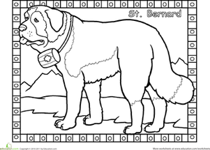St. Bernard coloring #18, Download drawings
