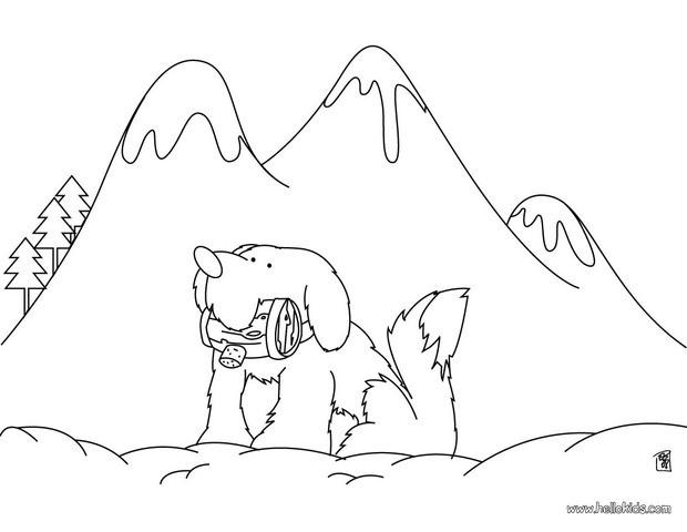 St. Bernard coloring #19, Download drawings