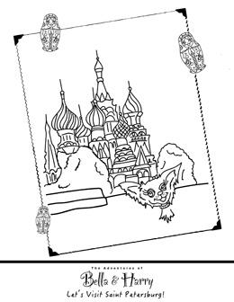 Saint Petersburg coloring #13, Download drawings