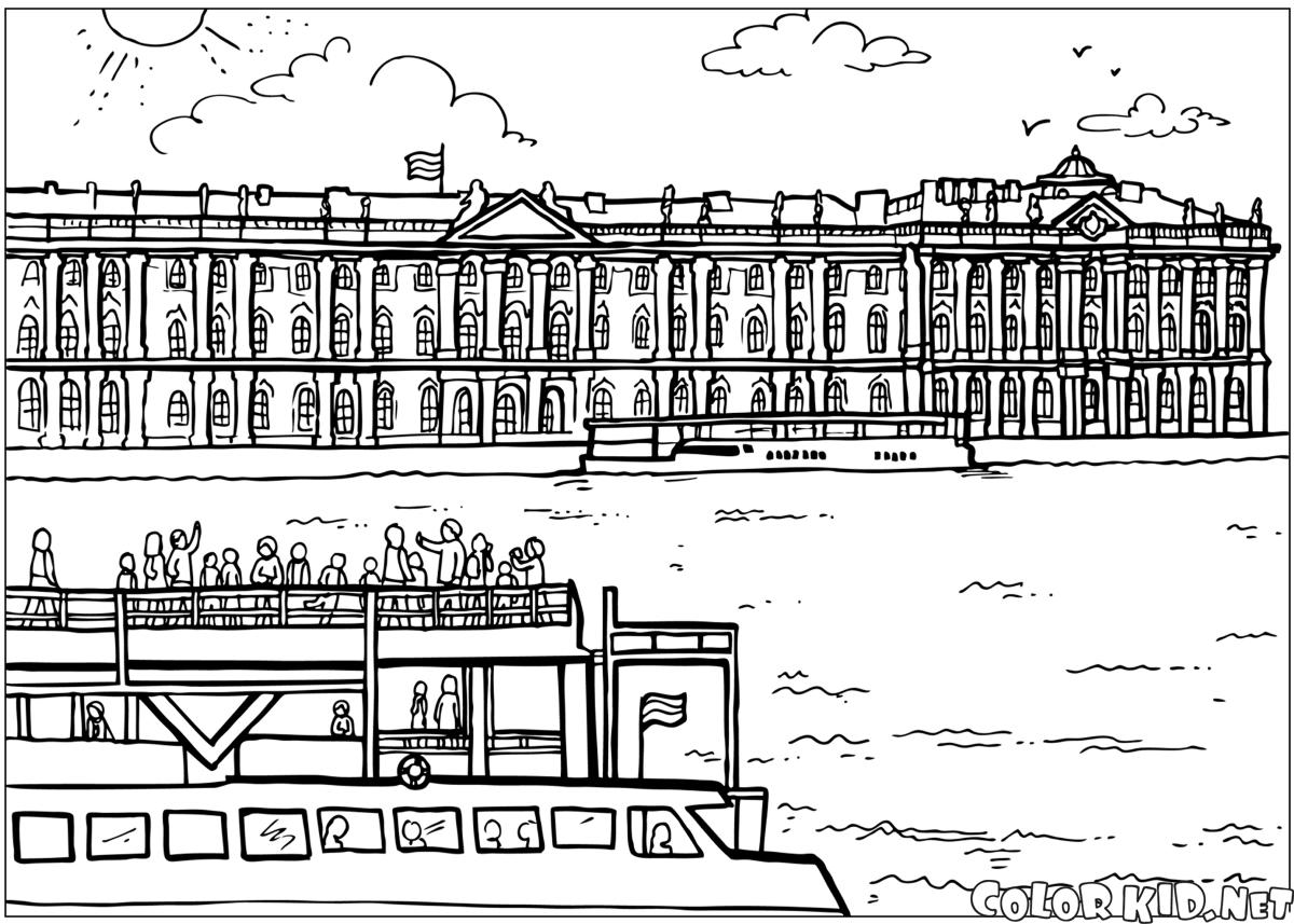 Saint Petersburg coloring #13, Download drawings