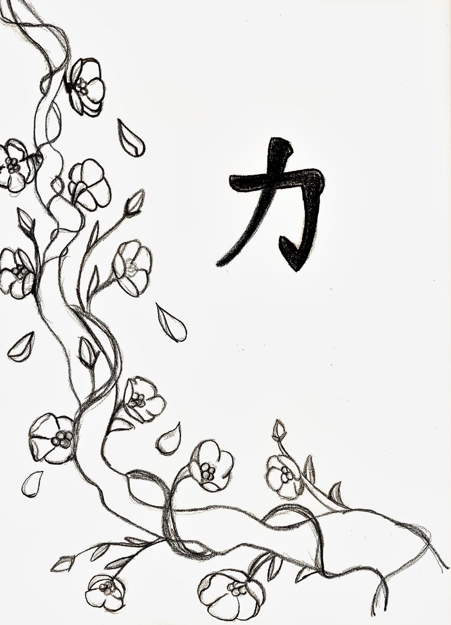 Sakura Tree coloring #4, Download drawings